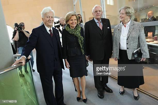 Former German President Richard von Weizsaecker Baroness Alexandra von Berlichingen former German President Roman Herzog and Marianne von Weizsaecker...