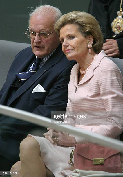 Former German president Roman Herzog and his wife attend the swearingin of new German president Horst Koehler during a special session of the...