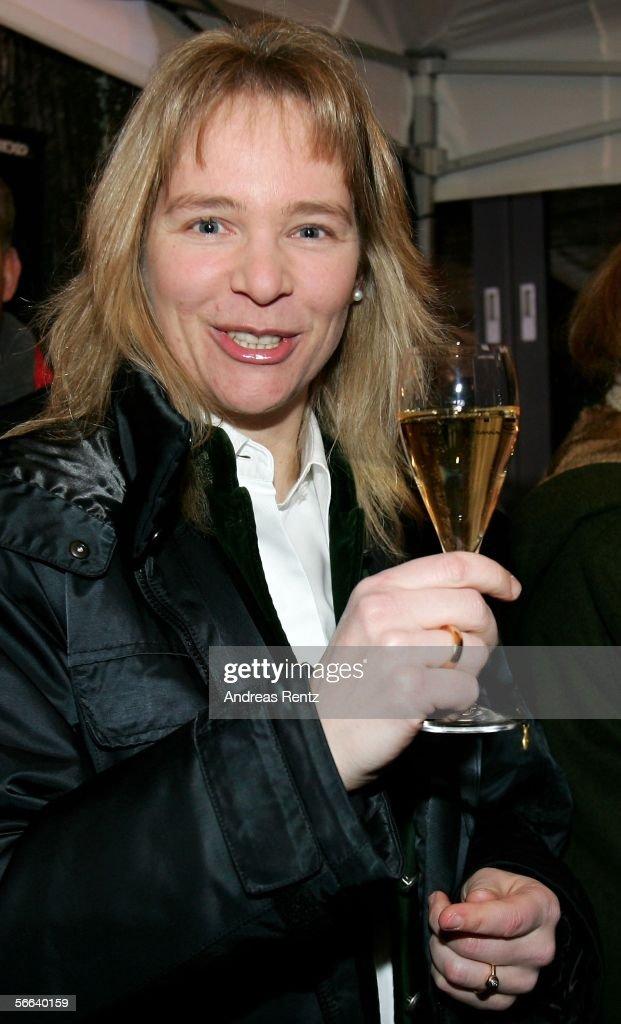 Former german ski star Katja Seizinger attends the Audi Night party at the Hotel Tenne on January 20, 2006 in Kitzbuehel, Austria.