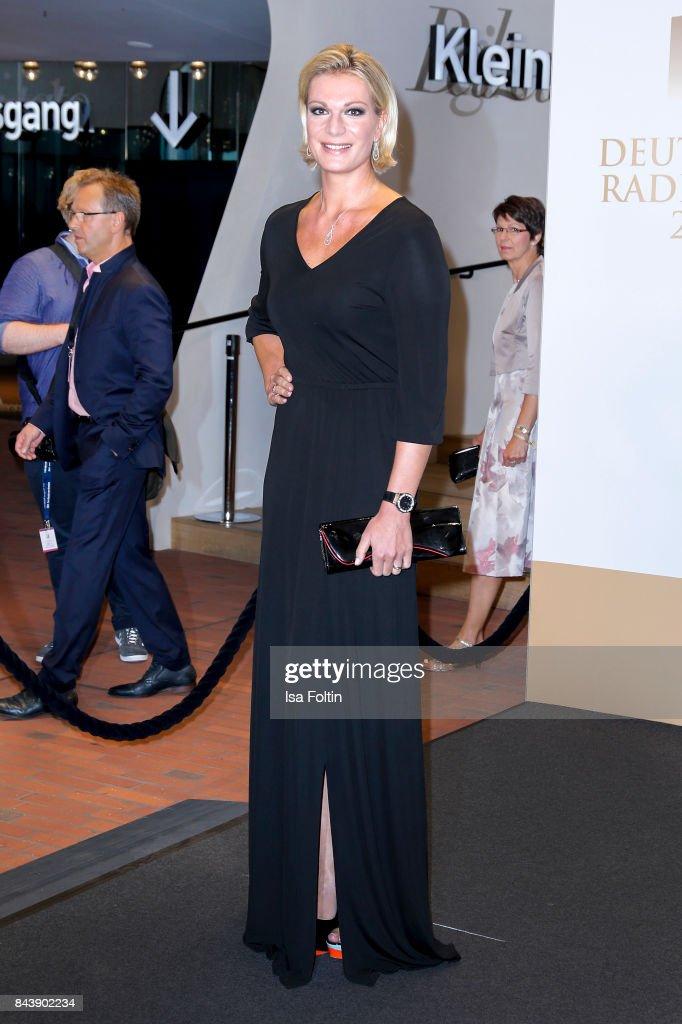 Former german skier Maria Hoefl-Riesch attends the 'Deutscher Radiopreis' (German Radio Award) at Elbphilharmonie on September 7, 2017 in Hamburg, Germany.