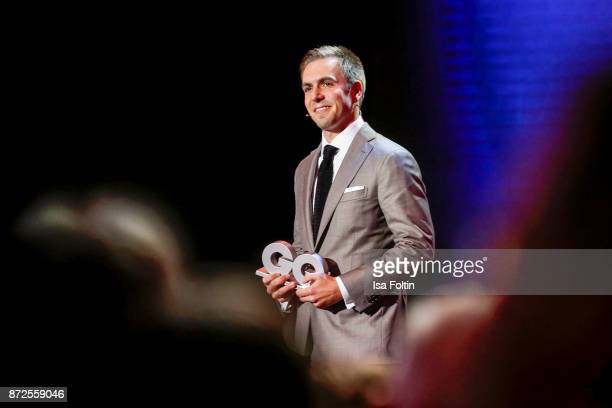 Former German soccer player and award winner Philipp Lahm live on stage at the GQ Men of the year Award 2017 show at Komische Oper on November 9 2017...