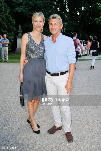 Former German soccer player Klaus Augenthaler and his girlfriend Sandra Kranjc during the Sting concert at the Thurn Taxis Castle Festival 2017 on...