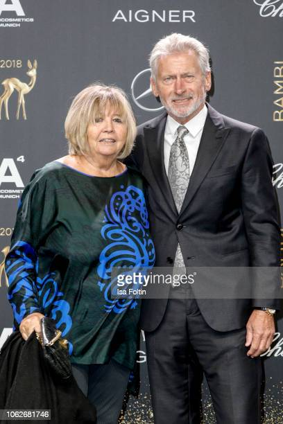 Former German soccer player Paul Breitner and his wife Hildegard Breitner attend the 70th Bambi Awards at Stage Theater on November 16 2018 in Berlin...