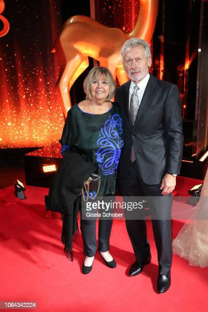 Former german soccer player Paul Breitner with his wife Hildegard Breitner during the Bambi Awards 2018 Arrivals at Stage Theater on November 16 2018...