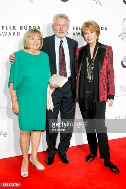 Former german soccer player Paul Breitner with his wife Hildegard Breitner and Christa Maar attend the Felix Burda Award 2017 at Hotel Adlon on May...