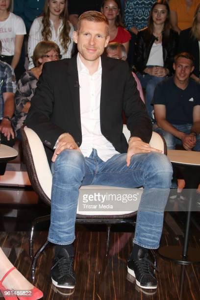 Former German soccer player Per Mertesacker attends the TV show 'Markus Lanz' on May 22 2018 in Hamburg Germany