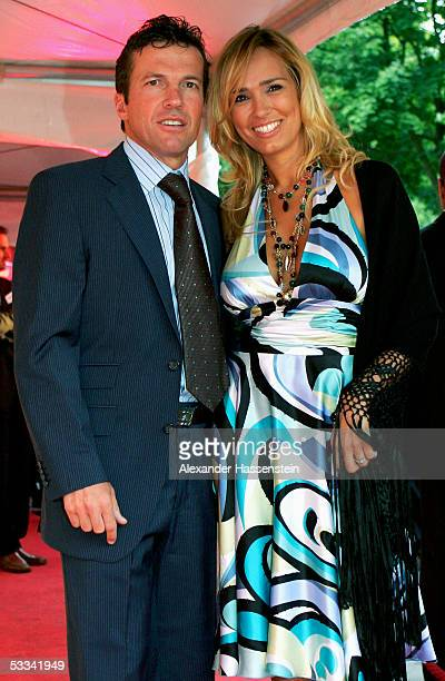 Former German soccer star Lothar Matthaeus poses with his wife Marijana Matthaeus during the ceremony of the Sport Bild Award 2005 at the Restaurant...