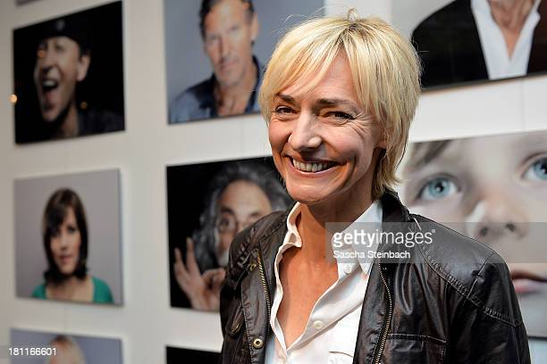 Former German track and field athlete Heike Drechsler poses during the presentation of the book 'Genuss Ansichten' as part of the celebrations to...