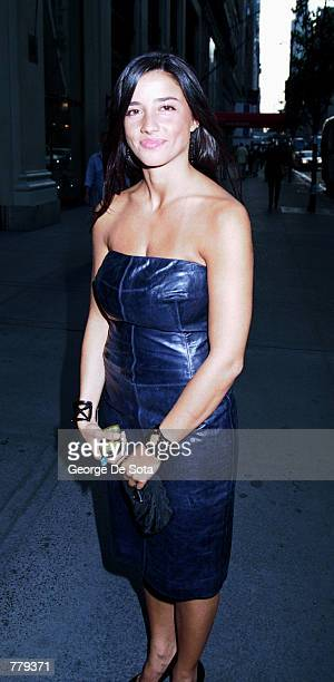 Former girlfriend of Jerry Seinfeld Shoshanna Lonstein poses September 12 2000 on the corner of 57 street and 5th Ave in New York City
