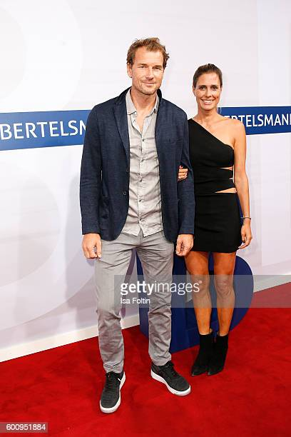 Former goal keeper Jens Lehmann and his wife Conny Lehmann attend the Bertelsmann Summer Party at Bertelsmann Repraesentanz on September 8 2016 in...