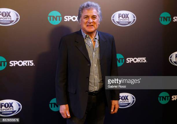 Former goalkeeper Ubadlo Matildo Fillol poses for the press during AFA's Superliga Official Launch at Hilton Hotel on August 15 2017 in Buenos Aires...