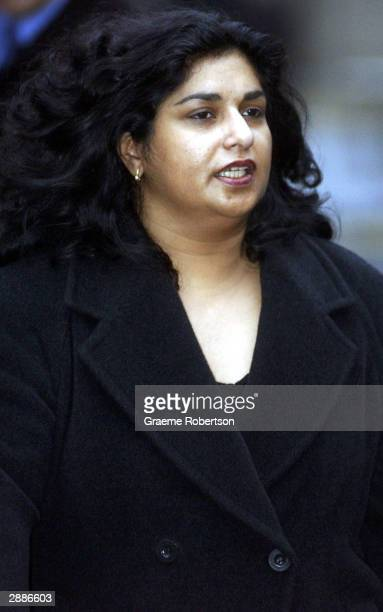 Former Goldman Sachs employee Joyti DeLaurey arrives at Southwark Crown Court accused of stealing 43 million pounds on January 21 2004 in London The...