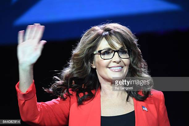Former GOP vice presidential candidate Sarah Palin speaks during the 2016 Western Conservative the Colorado Convention Center in Denver July 01 2016...