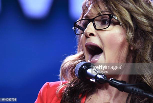 Former GOP vice presidential candidate Sarah Palin speaks during the 2016 Western Conservative Summit the Colorado Convention Center in Denver July...