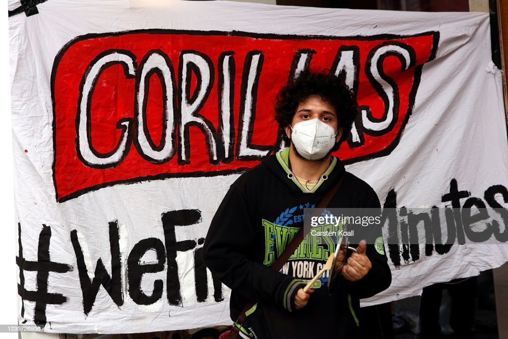 Gorillas Firing Striking Workers Leads To Protest : News Photo