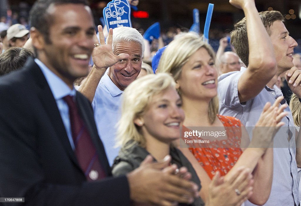 Former Gov. Charlie Crist, D-Fla., attends the Congressional Baseball game where the Democrats beat the Republicans 22-0 at Nationals Park.