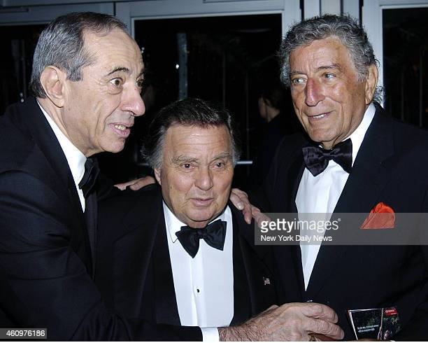 Former Gov Mario Cuomo Richard Brown and singer Tony Bennett at Lincoln Center For The Performing Arts Spring Gala