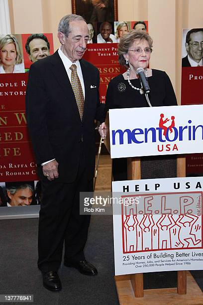 Former governor Mario Cuomo and wife Matilda Cuomo attend the The Person Who Changed My Life Prominent People Recall Their Mentors book launch party...