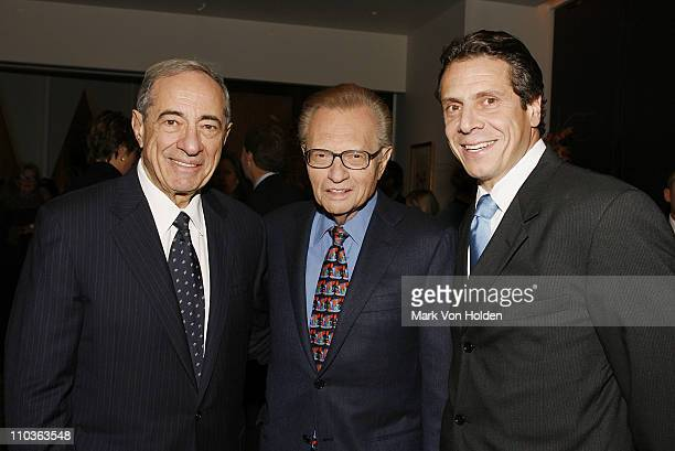Former Governor Mario Cuomo TV Personality Larry King and Politician Andrew Cuomo at the launch party for book Made From Scratch A Memoir by Sandra...