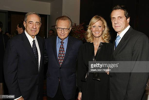 Former Governor Mario Cuomo TV Personality Larry King TV Personality and Chef Sandra Lee and Politician Andrew Cuomo at the launch party for Made...