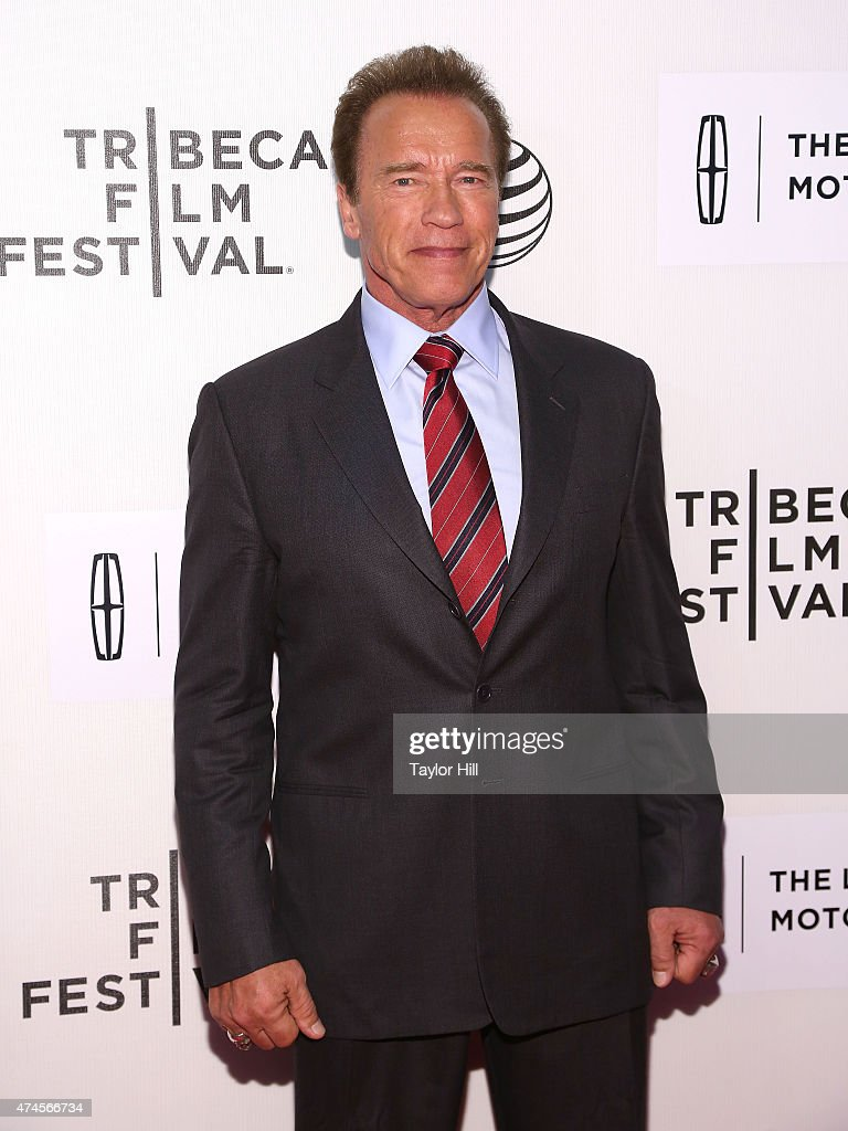 Former Governor of California Arnold Schwarzenegger attends the world premiere of 'Maggie' during the 2015 Tribeca Film Festival at BMCC Tribeca PAC on April 22, 2015 in New York City.