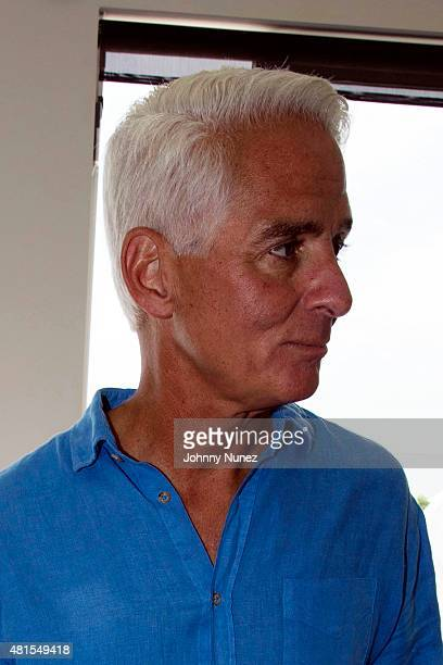 Former Governor of Florida Charlie Crist attends Jill And Bobby Zarin's 2015 Luxury Luncheon on July 18 in Southampton New York
