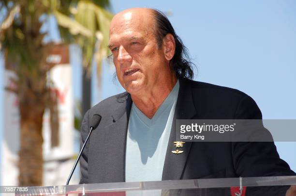 Former Governor of Minnesota Jesse Ventura attends the Eric Braeden Walk of Fame Star Ceremony held on Hollywood Boulevard on July 20 2007 in...