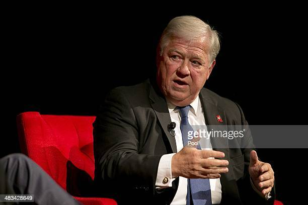 Former Governor of Mississippi Haley Barbour speaks during the 'Pathway to the American Dream Immigration Policy in the 21st Century' panel at the...
