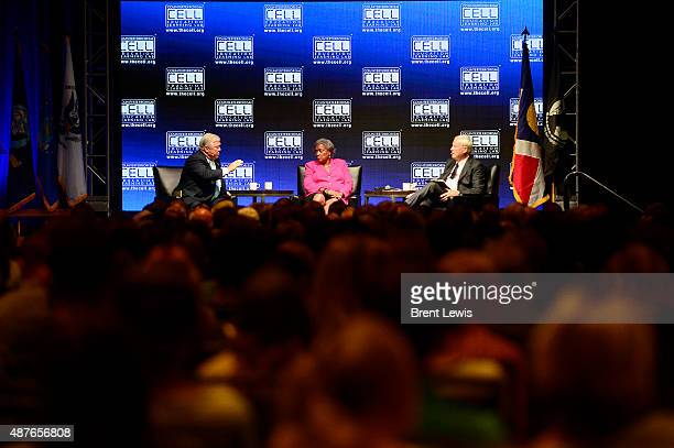 Former Governor of Mississippi Haley Barbour talks about the upcoming 2016 election while National Democratic Political Strategist Donna Brazile and...