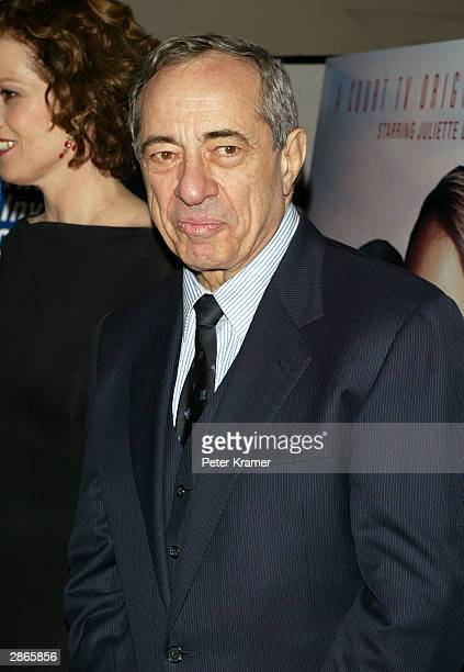 Former Governor of New York Mario Cuomo at the Court TV premiere of Chasing Freedom January 13 2004 in New York City