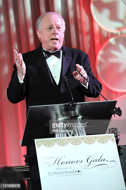 Former Governor of Tennessee Phil Bredesen speaks at the TJ Martell Honors Gala Nashville at Hutton Hotel on March 26 2012 in Nashville Tennessee
