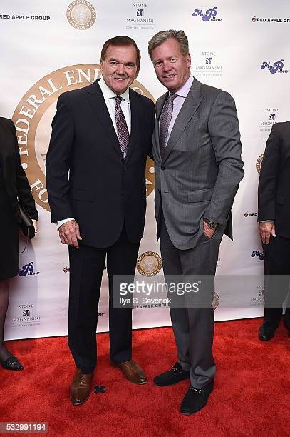 Former Governor Tom Ridge and journalist Chris Hansen attend the Federal Enforcement Homeland Security Foundation 2016 Ridge Awards at Sheraton Times...