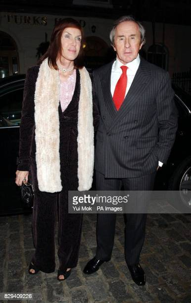 Former Grand Prix champion Jackie Stewart with his wife Helen arrive for the Chippi Hacki launch party in Knightsbridge central London Lady Emily...