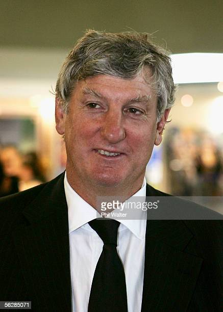 Former Grand Slam winning All Black Graham Mourie smiles as he awaits the New Zealand All Blacks team arrival at the Auckland International Airport...