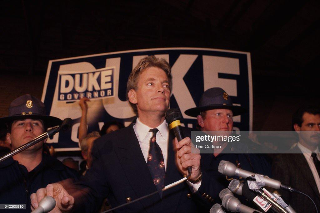 White Nationalist David Duke Campaigns : News Photo