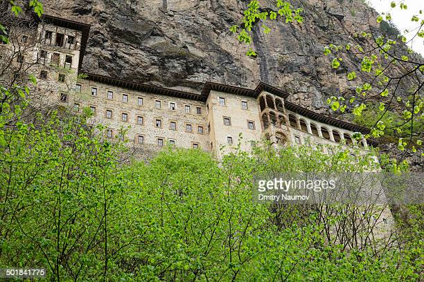 Former Greek Orthodox monastery, also known as Virgin Mary, now museum, Sumela Monastery is located on the narrow ledge of a steep cliff in the...