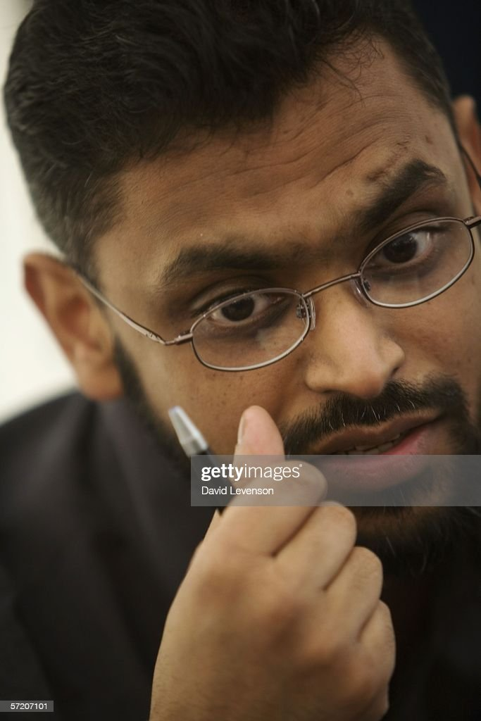 Former Guantanamo Bay prisoner Moazzam Begg poses for a portrait as he publicises his book of his experiences 'Enemy Combatant' at the annual Sunday Times Oxford Literary Festival held at Christ Church on March 29, 2006 in Oxford, England.