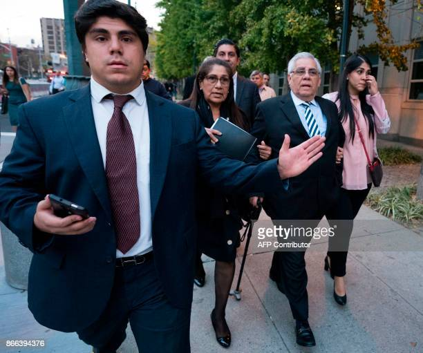 Former Guatamalan judge Hector Trujillo leaves afer he was sentenced on October 25 2017 at Brooklyn Federal Court in New York City A 63yearold former...