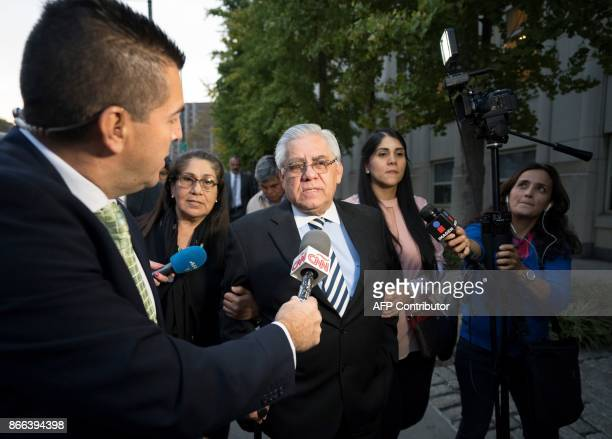 TOPSHOT Former Guatamalan judge Hector Trujillo leaves afer he was sentenced on October 25 2017 at Brooklyn Federal Court in New York City A...