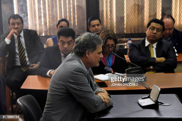 Former Guatemalan finance minister and the chairman of underfire Britishbased charity group Oxfam International Juan Alberto Fuentes Knight attends a...