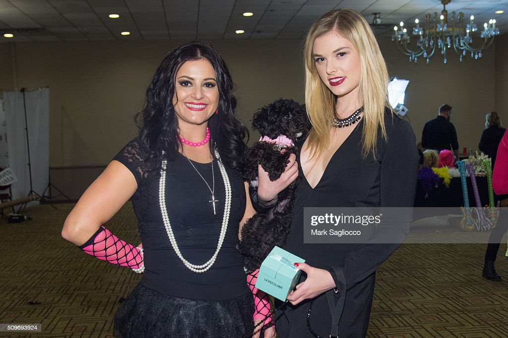 Former gymnast Dominique Moceanu (L) and Actress Nicole Patrick attend the 12th Annual NY Pet Fashion Show at Hotel Pennsylvania on February 11, 2016 in New York City.