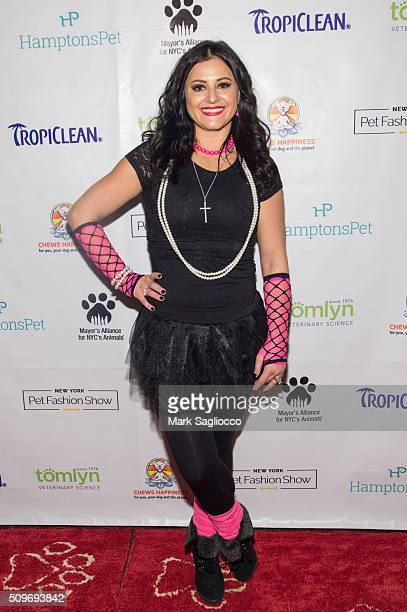 Former gymnast Dominique Moceanu attend the 12th Annual NY Pet Fashion Show at Hotel Pennsylvania on February 11 2016 in New York City