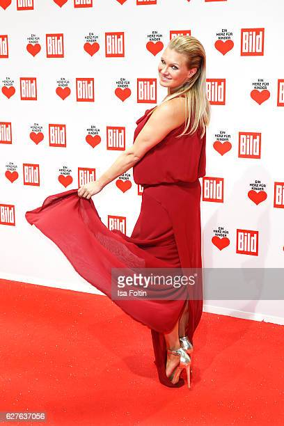 Former gymnast Magdalena Brzeska attends the Ein Herz Fuer Kinder gala on December 3, 2016 in Berlin, Germany.