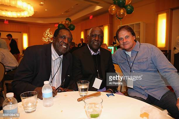 Former Harlem Globetrotter standout Meadowlark Lemon Actor Richard Roundtree and Major League Baseball Manager Tony LaRussa attend the March Of Dimes...
