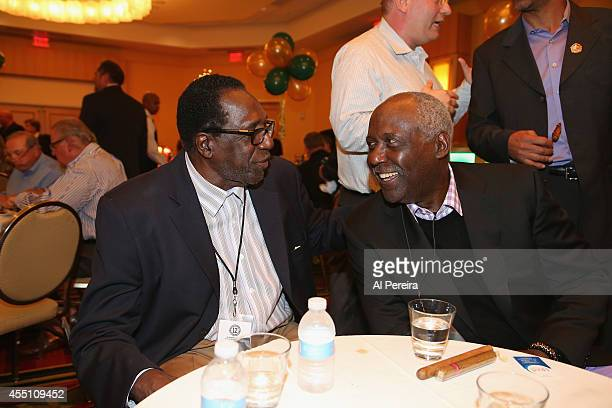 Former Harlem Globetrotter standout Meadowlark Lemon and Actor Richard Roundtree attend the March Of Dimes celebrity casino party at Long Island...
