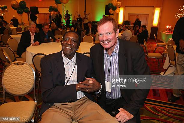 Former Harlem Globetrotter standout Meadowlark Lemon andNational Football League star Ted Hendricks attend the March Of Dimes celebrity casino party...