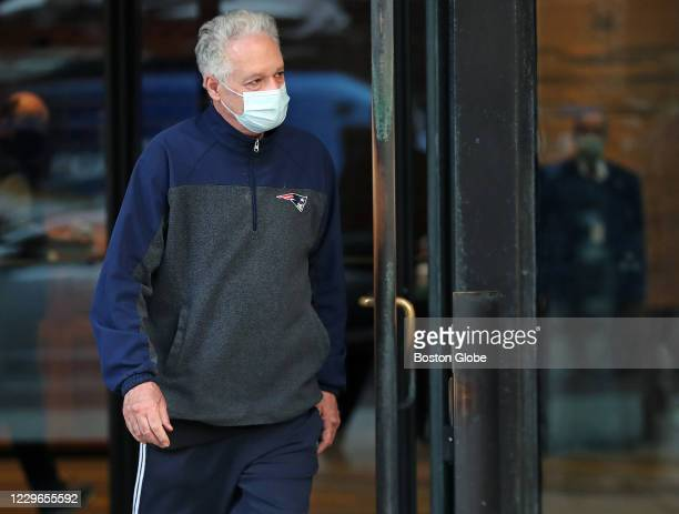 Former Harvard University fencing coach Peter Brand leaves the Moakley Federal Courthouse in Boston after being arraigned and freed on bail on Nov....