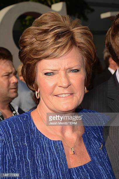 Former head coach of the Tennessee Lady Vols Pat Summitt arrives at the 2012 ESPY Awards at Nokia Theatre LA Live on July 11 2012 in Los Angeles...