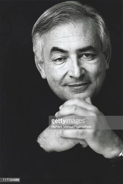 Former head of IMF Dominique StraussKahn is photographed for Madame Figaro on January 26 2002 in Paris France Published image Figaro ID 054010004...