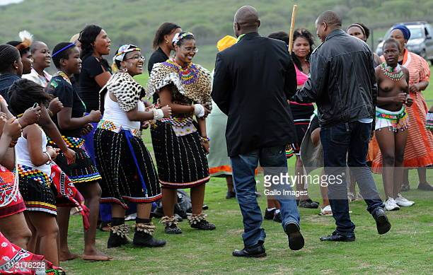 Former head of Lembede Investment Holdings Lonwabo Sambudla attends the uMemulo ceremony for his bride to be President Jacob Zuma's daughter Duduzile...